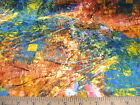 Discount Fabric  Stretch Velvet Multi Colored abstract 202VE