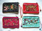A Lovely Embroidered Silk Like Coin Purse, Mobile Phone Case, Pouch, Make up Bag