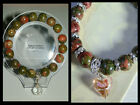 10mm UNAKITE BEADED STRETCH BRACELET ~ SILVER ~ GOLD ~ SPACERS ~ CHARMS