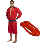 LIFEGUARD COSTUME ADULT SEA RESCUE FANCY DRESS 80S 90S STAG PARTY OPTIONAL FLOAT