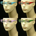 Reading glasses full clear lens new color men women power spring hinge lp63