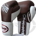 Leather Boxing Gloves Mma Grappling Fight Punch Bag Training Mitts Size 12oz