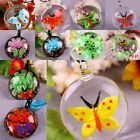 1X Lampwork Glass Flower Frog Butterlfy Charms Pendant Bead Jewelry Fit Necklace