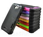 HTC One X XL S720e Dual Defender Rubber Heavy Duty Impact Hybrid Hard Case Cover