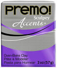 Sculpey Premo! Polymer Clay Oven Bake 2oz 57g Accents Polyform Choose Your Color
