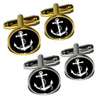 Anchor and Rope - Boat Boating Round Cufflink Set