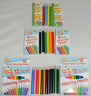 4,8,12 half length colouring pencils in 1  50 sets Massive selection FREE POST