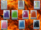 12 Glitter Candles 75mm. Many colours to select from FREE POSTAGE