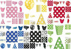 POLKA DOTS PARTY TABLEWARE BIRTHDAY DECORATIONS RED PINK BLUE YELLOW GREEN BLACK