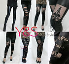 Lack Leder Latex Wet Look Matt Glanz Spitze Bandage Gothic Punk Leggings LEGGINS