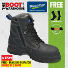 Blundstone 997 Work Boots, Black, Zip Sided, Steel Toe Safety,150mm. Brand New!