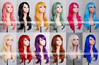 """28"""" 70cm Long Hair Heat Resistant Spiral Curly Cosplay Wig 8 Colors"""