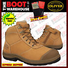 Oliver 34662 Work Boot. Steel Toe Safety. Nubuck Zip-Side Ankle Boot. SCUFF CAP!