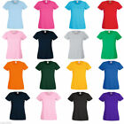 Fruit of the Loom T Shirt Ladies, Womens plain blank tee lady-fit top 14 Colours
