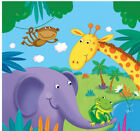 Jungle wild zoo animal party table items cups plates napkins etc  FREE POSTAGE