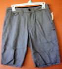 Hurley Black Gray Herringbone Walking Casual Skateboard  Shorts Unfinished Hem