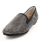 US5-9 Womens Ladies Leather Studded Rivets Cover Ballet Flats Shoes  [JG]