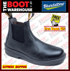 Blundstone Work Boots 330. Steel Toe Safety, Elastic Sided Black Leather. NEW!