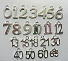 10 x Number Age Charms Silver Plated Metal Pendants Birthday Gift YOU CHOOSE