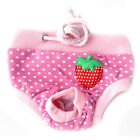 New Female Pet Dog Puppy Sanitary Pant Short Panty Striped Diaper Underwear Cute