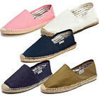 SOLUDOS Women's Pink / White / Navy / Denim / Olive Cotton Jute Espadrilles NEW