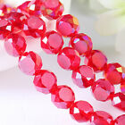 70pcs diamond red bright simpleBeads Faceted Glass Crystal Spacer Bead N8691