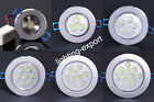 1W 3W 5W 7W 9W 12W LED Recessed Ceiling Spot Down Light Lamp Fixture With Driver