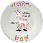 Personalised Porcelain Baby Plate, Birth Plate, Christening gift