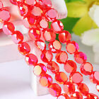 100pcs/500pcs red irregular bright Bead Glass Crystal Spacer Beads 8699