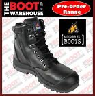 Mongrel 561020 Work Boots. Safety Steel Toe Cap.  High Ankle, ZipSider, Lace Up.