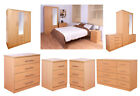 High Quality Exclusive Beech Bedroom Furniture Units Iowa Range Wood Effect
