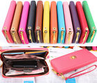 PU Leather Lady Card Coin Wallet Organizer Clutch Long Handbag Purse Phone Case
