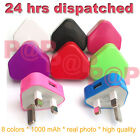 COLOUR USB MAINS CHARGER PLUG FOR SAMSUNG GALAXY NOTE2/NOTE/S4/S3/S3/MINI/S2/S
