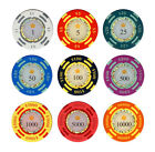 25pc 13.5g Clay Crown Casino Poker Chips  Choose From 9 Colors