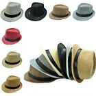 Vintage Top Leisure Jazz Hat Fedora Trilby Gangster Straw Panama Caps Man Woman
