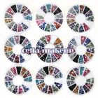 Nail Art 3D Design Decoration Crystal Glitter Silver Rhinestones Wheel Hot