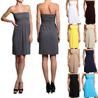 MOGAN Draped Jersey Strapless Tube Dress Ladylike Seamless Cover Up One Sized