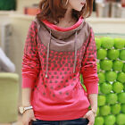 Casual Womens Long Sleeves Print Loose Blouse Hoodies Coats Sweaters  [JG]