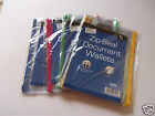 A5 Zippy Poly Clear Zip Seal Folder Wallet - Filing Plastic Pack of 5
