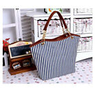 Womens' s Smart casual bags canvas bag striped shoulder bag