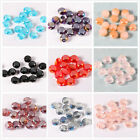 100/500pcs Round Flat Glass Crystal Bracelet Necklace Finding Spacer Beads