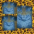 Mens Tiger Cheetah Print short sleeve T shirt Animal Print T-Shirt S-2X NEW