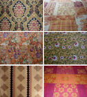 Vintage retro 70's print cushion curtains 100% cotton fabric extra wide 2.4 mtrs