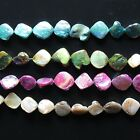 """Mother of Pearl 15-20mm Diamond Nugget Gemstone Shell Beads 15"""""""