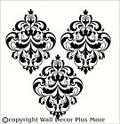 Vintage Medallion Floral Design 3 pc Wall Vinyl Sticker Decal Damask 11x15 inch