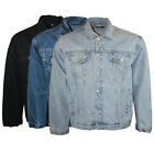 MENS HEAVY DUTY AZTEC CLASSIC DENIM JACKET VINTAGE BLUE NEW S-6XL