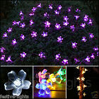 50 OR 100 LED SOLAR BLOSSOM FAIRY STRING OUTDOOR GARDEN LIGHTS WITH TIMER 5M 10M