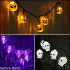 3M BAT PUMPKIN SKULL INDOOR NOVELTY HALLOWEEN PARTY FAIRY STRING LIGHTS, 30 LEDS