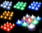 LED Flickering FLAMELESS Battery Operated Tea Light Candles Multi Colors Select