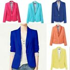 Woman Lady's Solid Casual/Formal One Button Tunic Blazer Jacket Work Suit Coats